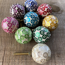 Load image into Gallery viewer, SALE Set of 9 Assorted Button Drawer Knobs
