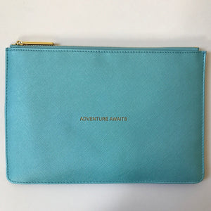 Slogan Clutch Bag New Metallics