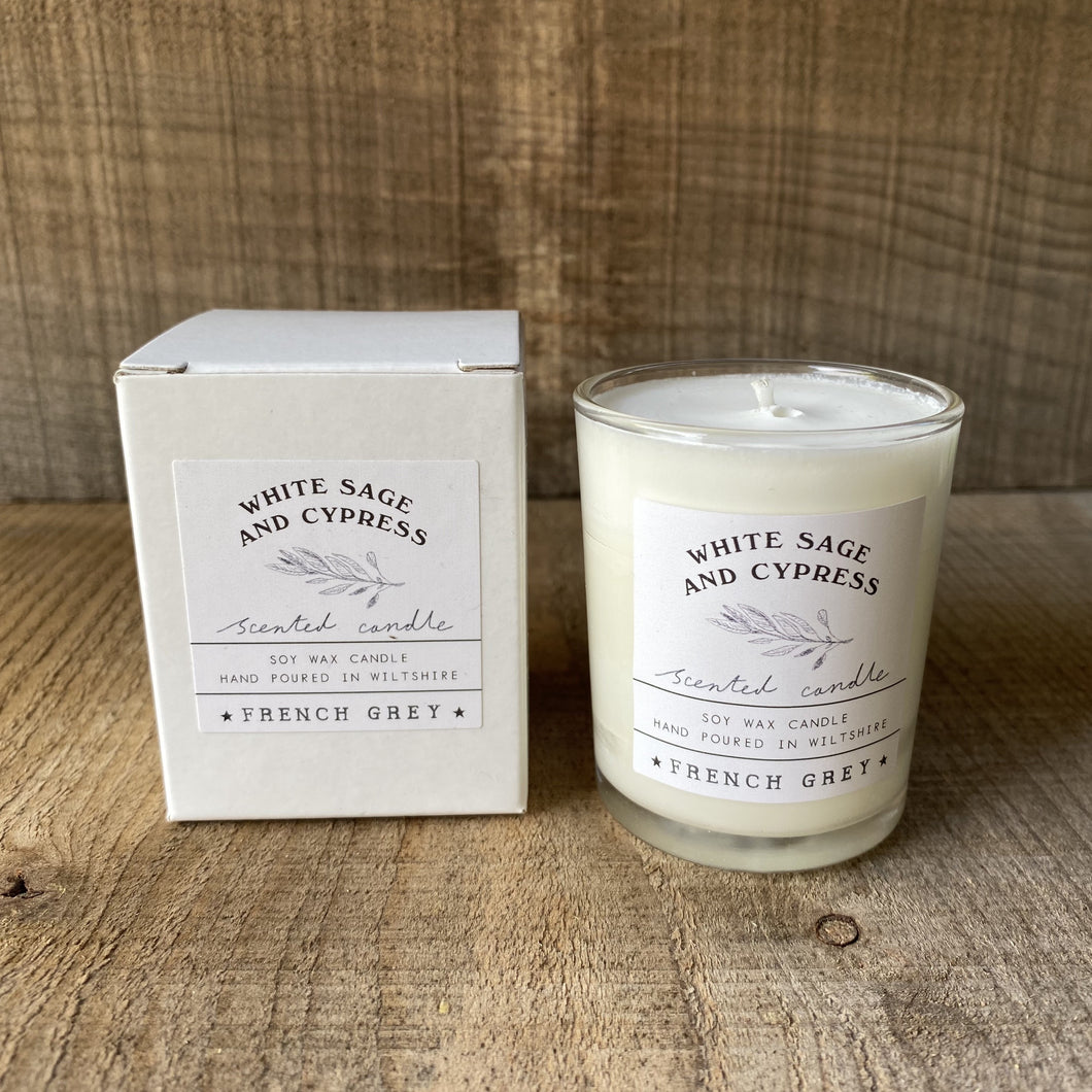 White Sage and Cypress Votive Candle