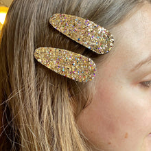 Load image into Gallery viewer, Pair of Glitter Hair Clips