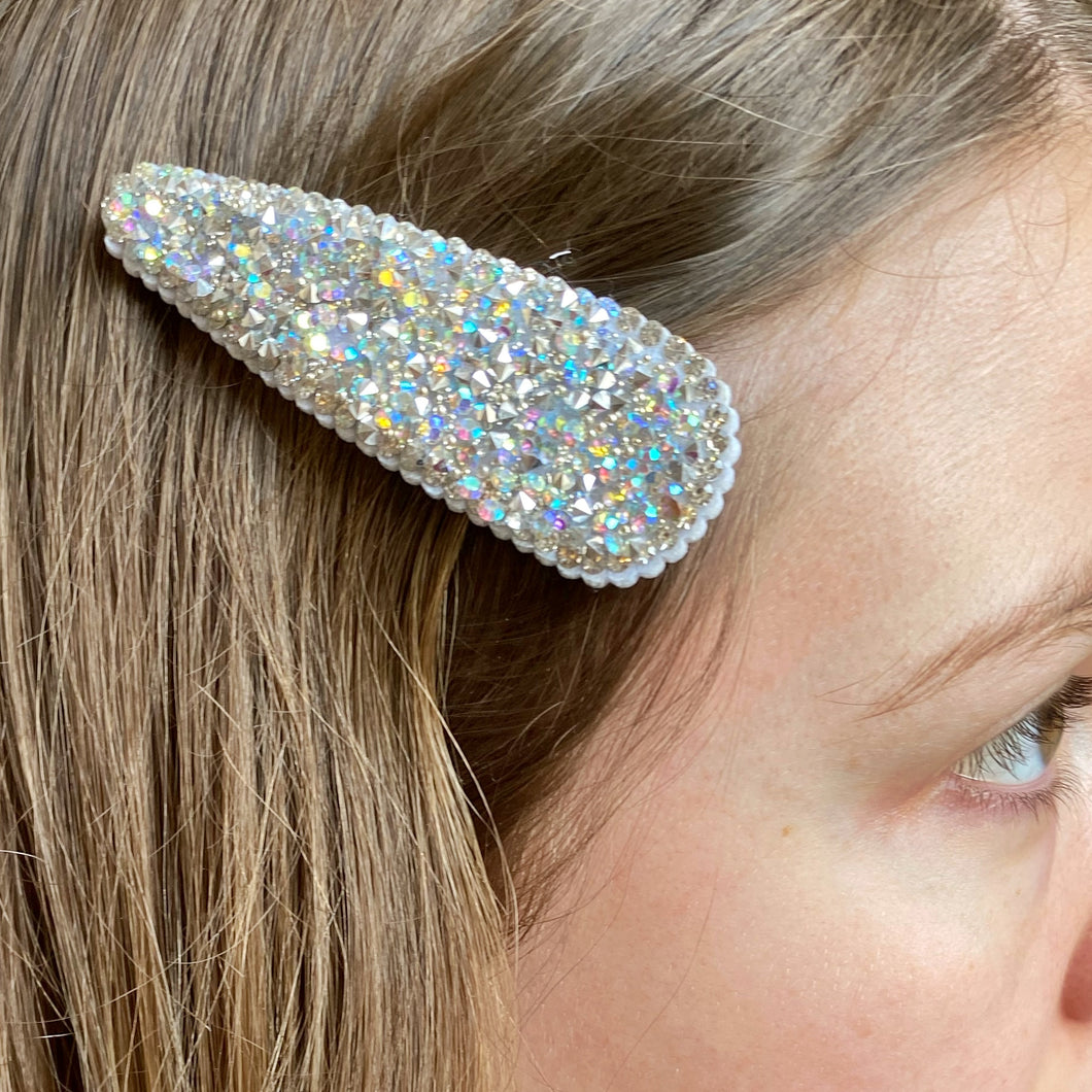 Iridescent Sparkle Hair Clip