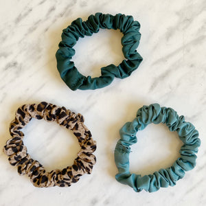 Scrunchie Pack Leopard & Teal