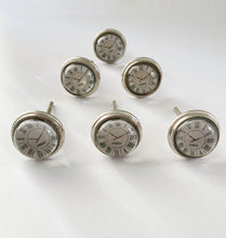 Load image into Gallery viewer, Roman Numerals Clock Drawer Knobs Set of 6