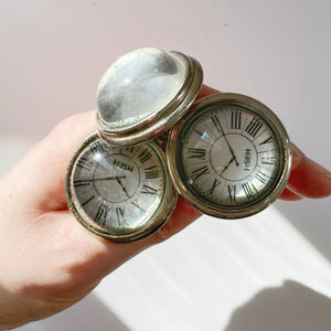 Roman Numerals Clock Drawer Knobs Set of 6
