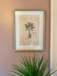 Set of 4 Pink Palm Prints