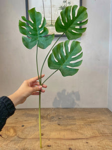 Faux Monstera Single Stem