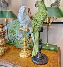 Load image into Gallery viewer, Green Parrot on a Perch