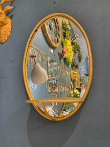 Golden Mirror with Shelf