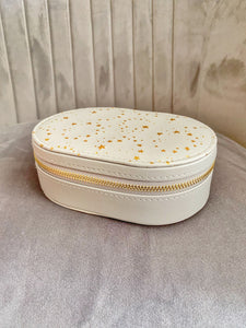Oval Star Jewellery Box Pink or Grey