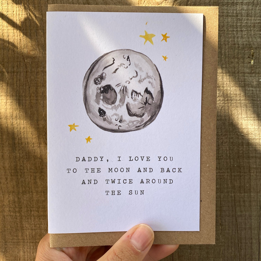 To The Moon and Back Father's Day Card
