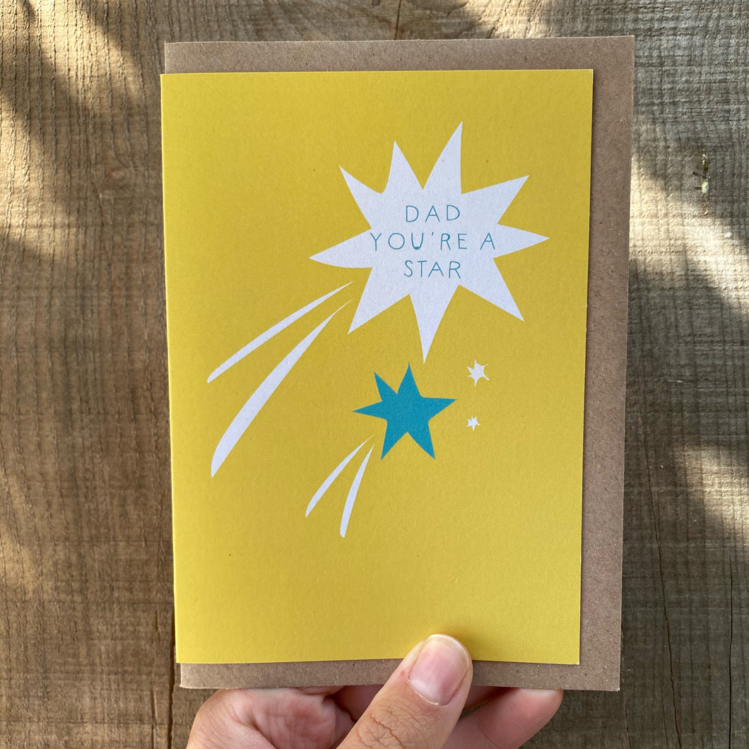Dad You're a Star Father's Day Card