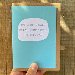 'You're The Best' Father's Day Card
