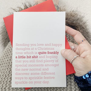 'Quite Frankly A Little Bit Shit' Christmas Card