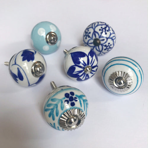 Set of Drawer Knobs in Blues