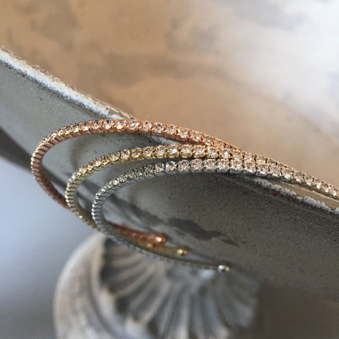 Thin Crystal Bangle
