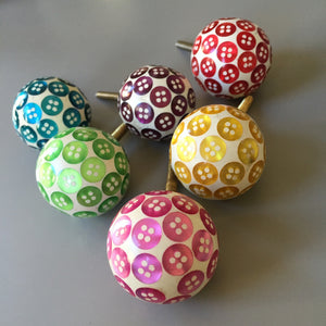 Set of Assorted Button Drawer Knobs