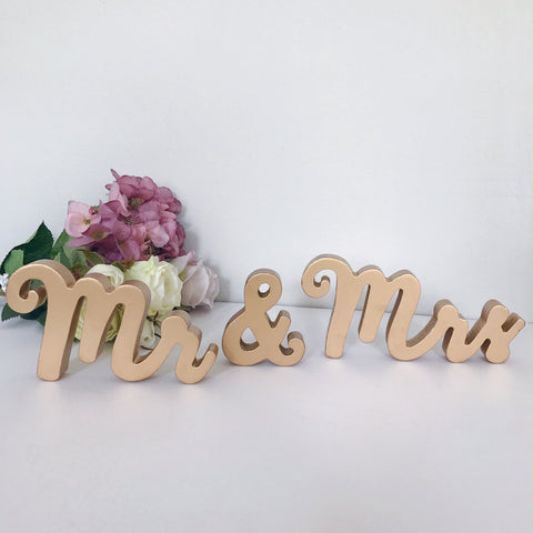 Mr and Mrs Gold Standing Letters
