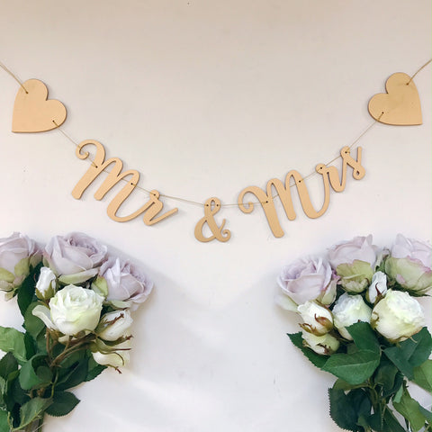 Mr and Mrs Gold Garland