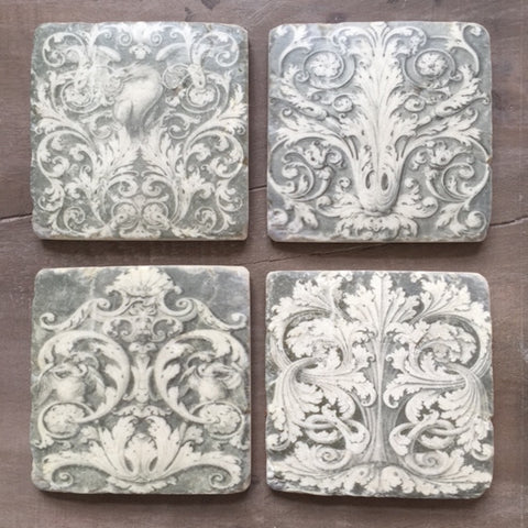 Grecian Coasters Set of Four