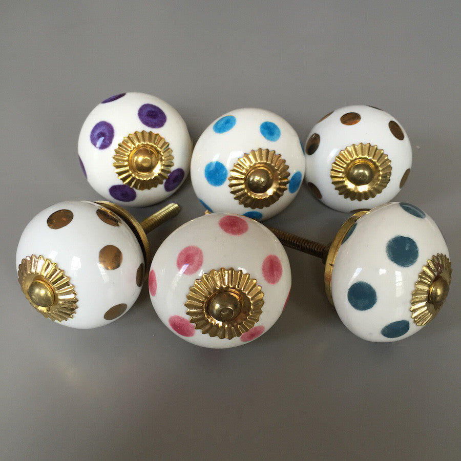 Set of Spotty Drawer Knobs