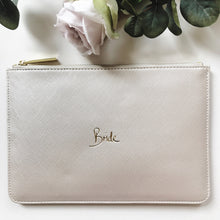 Load image into Gallery viewer, Bride Slogan Clutch Bag Metallic White