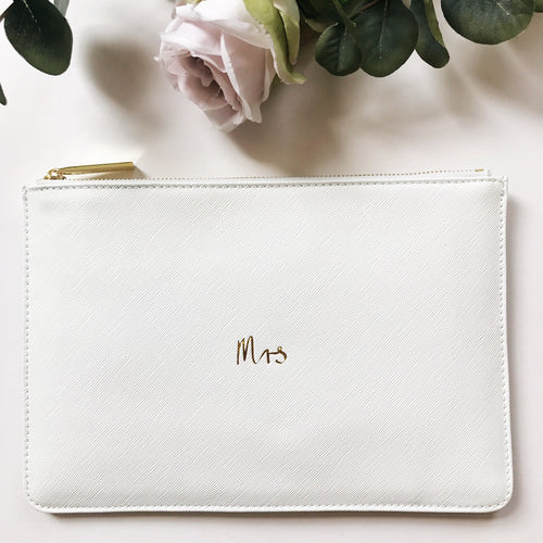 Mrs Slogan Clutch Bag Chalky White OUT OF STOCK