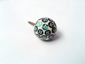 Buttons Drawer Knob Dark Green