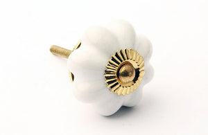 Flower Drawer Knob White