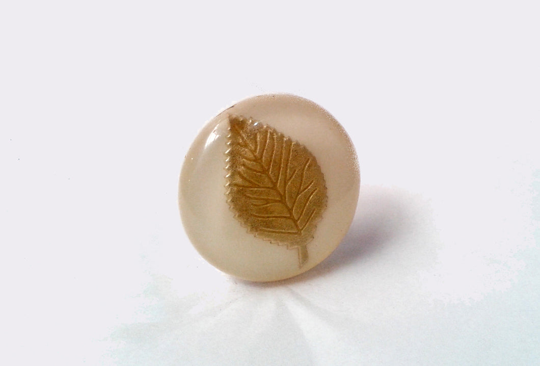 Gold Leaf Drawer Knob