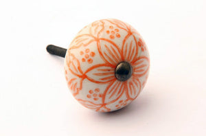 Moorish Style Orange Drawer Knob