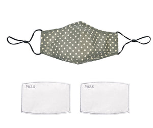Khaki Dotty Face Mask