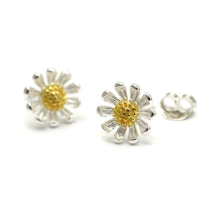 Sterling Daisy Studs