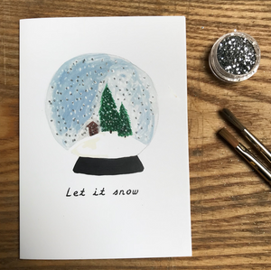 'Let it snow' Christmas Card