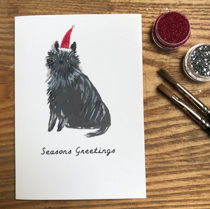 'Seasons Greetings' Christmas Card