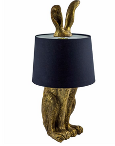 Rabbit Lamp in Gold