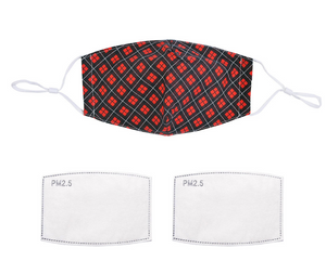 Mens Red Tartan Face Mask