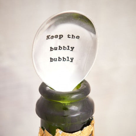 Champagne Teaspoon Stopper – 'Keep The Bubbly Bubbly'