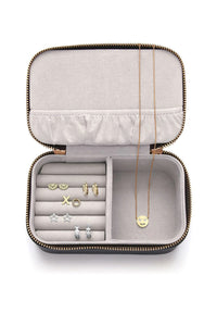 'Live As You Dream' Mini Jewellery Box Navy