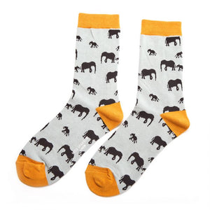 Ladies Elephant Bamboo Socks