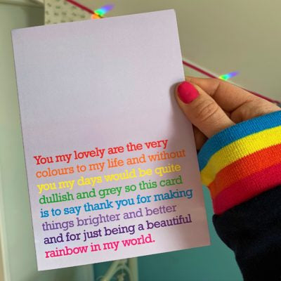'Very Colours To My Life' Card