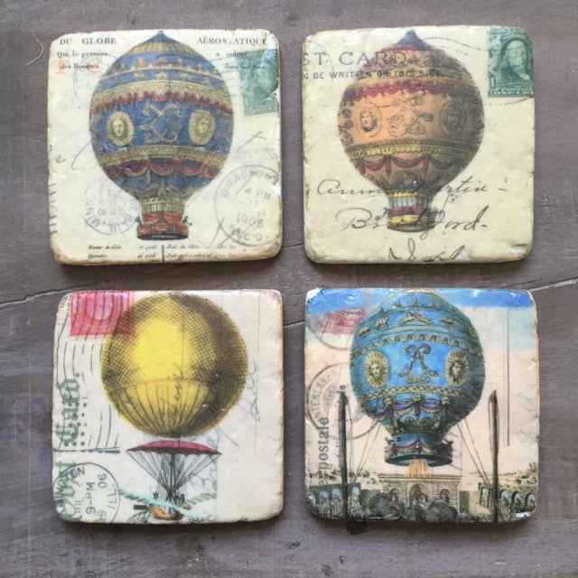 Hot Air Balloon Coasters Set of Four