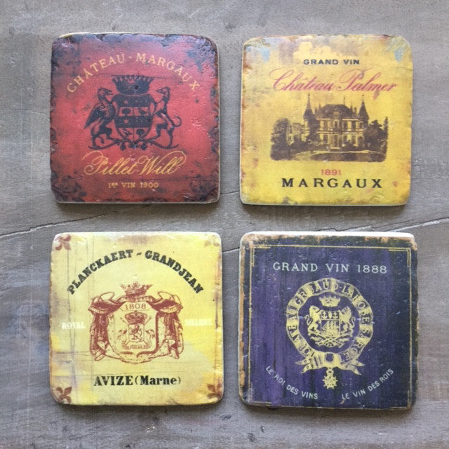 Wine Coasters Set of Four