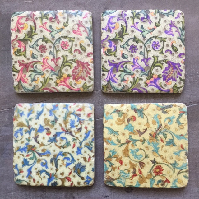 Victorian Set of Four Coasters