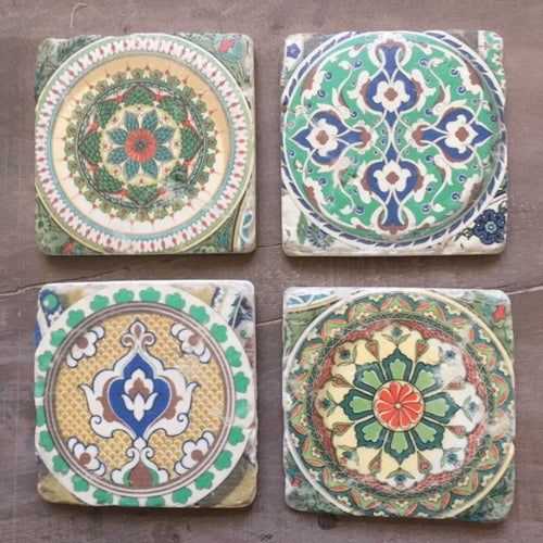 Moorish Vintage Set of Four Coasters OUT OF STOCK