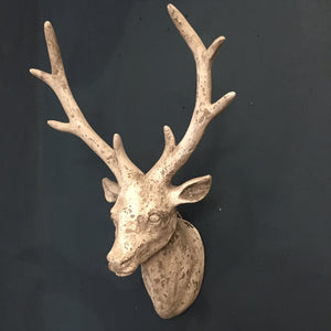 Stone Effect Stag Head