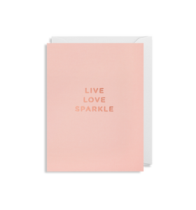 "Mini Card ""Live Love Sparkle"""