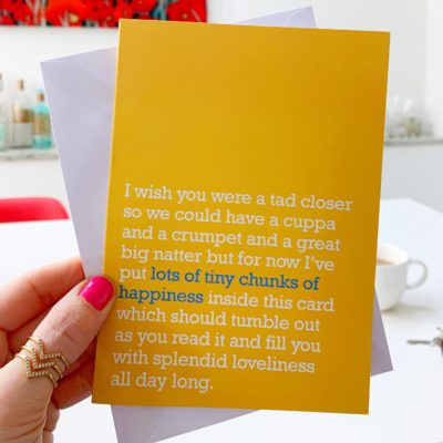 'Tiny Chunks Of Happiness' Card