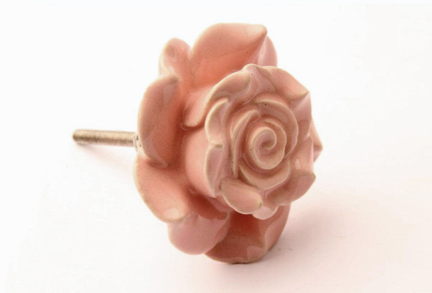 Rose Drawer Knob Pink