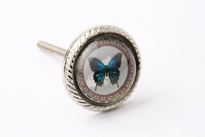 Blue Butterfly Drawer Knob