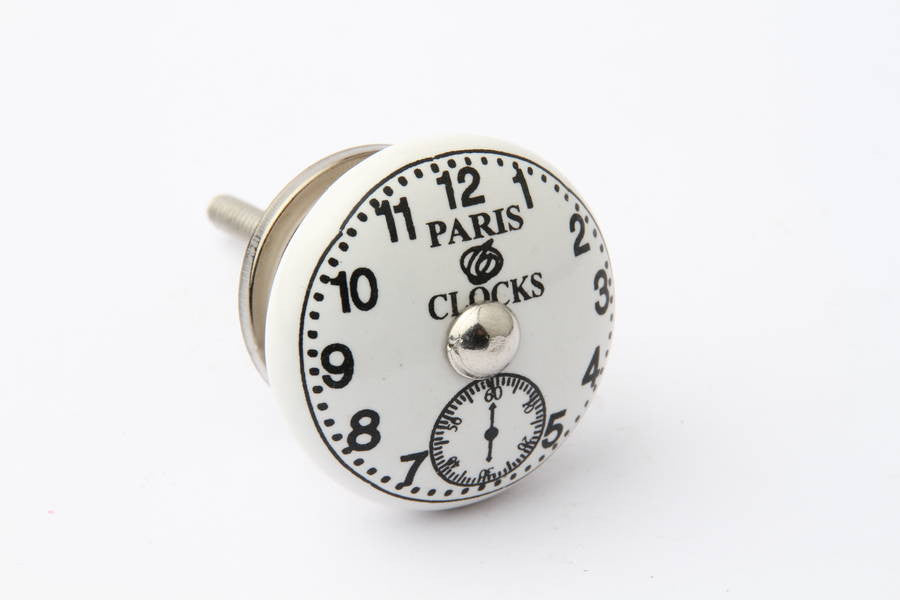 Paris Clock Face Drawer Knob